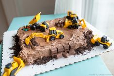 26 Inspiration Picture of Kids Construction Birthday Cake . Kids Construction Birthday Cake Construction Candy Cake Made To Be A Momma Tractor Birthday Cakes, 3rd Birthday Cakes, Digger Birthday Cake, Tractor Cupcake Cake, Boys Bday Cakes, Tractor Cakes, Birthday Ideas, Birthday Stuff, Digger Cake