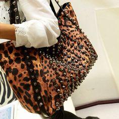 USD13.99Fashion Zipper Leopard PU Shoulder Bag