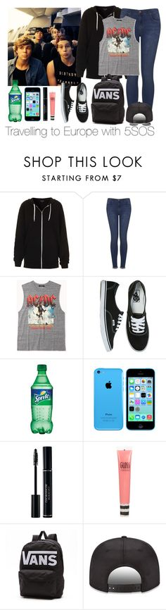 """""""travelling to Europe with 5SOS"""" by robypese ❤ liked on Polyvore featuring Topshop, Forever 21, Vans, women's clothing, women, female, woman, misses and juniors"""