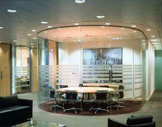 Oval Glass Meeting Room
