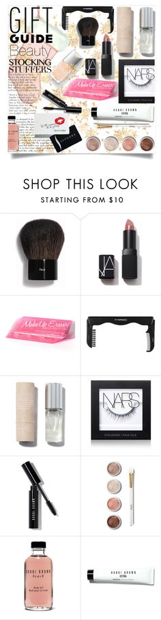 """""""Beauty Stocking Stuffers"""" by alysham27 ❤ liked on Polyvore featuring Bobbi Brown Cosmetics, MAC Cosmetics, By Rosie Jane, NARS Cosmetics, Terre Mère and Sephora Collection"""