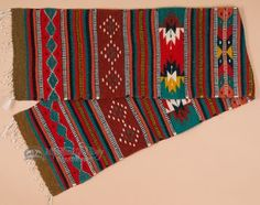 "Zapotec Wool Table Runner 15""""x80"""" (b18)"