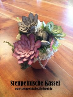 Stampin Up, Succulent Accents, Stamping, Turquoise, Table Decoration