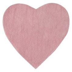 Alfombra de pelo corto rosa L 70 cm CŒUR