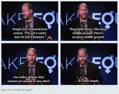 """Today 8 March is the International Women's Day. """"You either believe women are people or you don't."""" <3 Joss Whedon"""