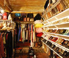 Attic closet with shoe shelves. Attic Bedroom Closets, Attic Closet, Attic Rooms, Attic Spaces, Dream Closets, Closet Space, Closet Rooms, Small Spaces, Closet Redo