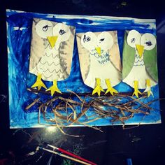 "Darling owl craft to go along with ""Owl Babies"" from Our Ordinary Life."