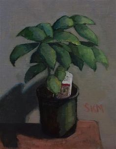 """Daily Paintworks - """"sweet basil - a perceptual painting"""" - Original Fine Art for Sale - © Sarah Meredith"""