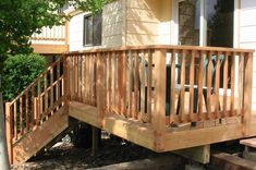 wood deck railing design