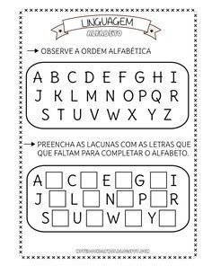 Atividades Alfabeto Com Imagens Atividades Com O Alfabeto