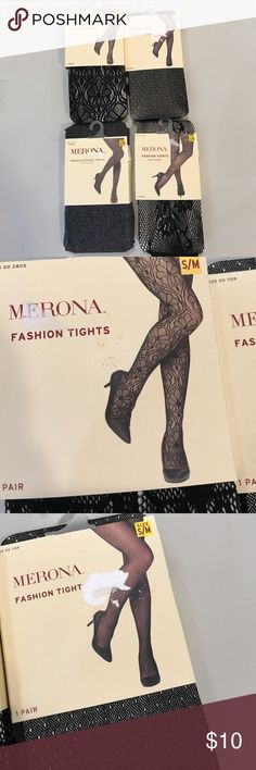 NWT Merona Fashion Tights Bundle...szS/M..4 pairs NWT Merona Fashion Tights Bundle...szS/M..4 pairs...see size chart Merona Accessories Hosiery & Socks
