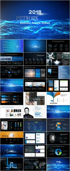 Creative blue IT industry report PowerPoint template Best Ppt Templates, Simple Powerpoint Templates, Professional Powerpoint Templates, Project Presentation, Presentation Layout, Business Company, Business Design, Powerpoint Presentation Slides, Ppt Design