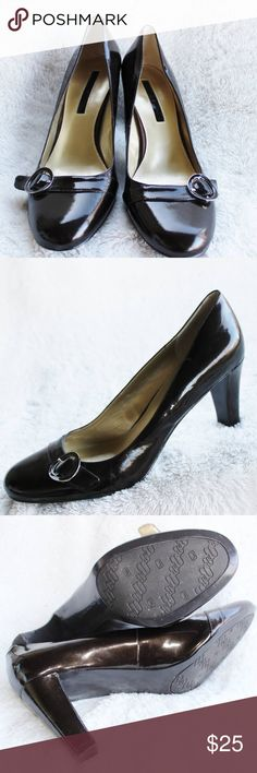 BANDOLINO Patent Leather Brown Pumps - Size 9.5M These Heels are in ALMOST NEW condition.  They have been very gently loved.  The heels measure a little bit over 3 inches high.  The picture with the bottom of the shoes shows the color best. Bandolino Shoes Heels