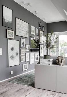Attic living area in grey - via Coco Lapine Design blog