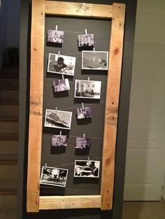 Pêle-mêle photos en bois brut verni sans fond