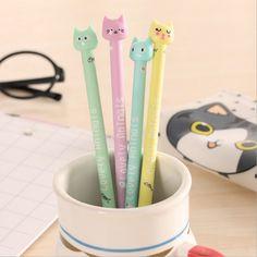 2pcs Cartoon Pink Pig Gel Pens Kawaii Stationery Kids Gifts Office School Pen es