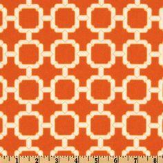 Good Orange+Outdoor+Fabric++Hockley+Mandarin+Orange+Outdoor+by