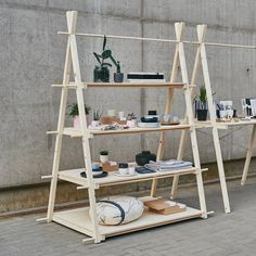 Portable shelving unit with 4 plywood shelves, quick setup collapsible wooden stand for craft show, reusable Glass Shelves, Display Shelves, Shelving, Counter Display, Ladder Display, Kitchen Display, Display Case, Wall Shelves, Plywood Shelves