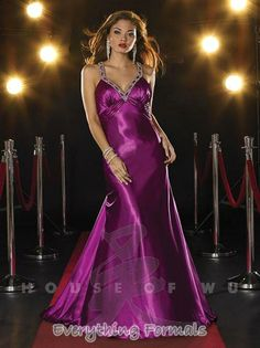 Elegant and Luminous #Charmeuse V Neck Flare Long #PromGown by #Panoply Style 14335~ MSRP: $360.09 Guaranteed Low Price: $285.99 (You save $74.10) *This product is on SALE (http://www.everythingformals.com/Panoply-14335/)
