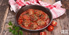 Easy High Protein Meatballs With Tomato & Basil Sauce