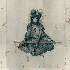 """ Ripper ""  Joao Ruas  Acrylic on Paper, Board  70 x 70 cm"