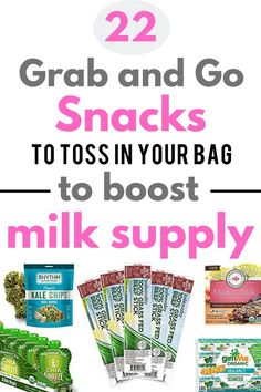 A unique list of best packaged snacks for breastfeeding that are perfect to grab and go for busy Moms. These healthy breastfeeding snacks are all clean, low in sugar, contain protein, free of additives, support milk supply and can be eaten one handed. Easy Snacks, Healthy Snacks, Snacks Ideas, Healthy Kids, Healthy Recipes, Boost Milk Supply, Increase Milk Supply, Breastfeeding Snacks, Protein