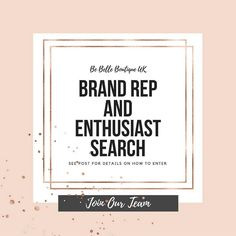 BRAND REP AND ENTHUSIAST SEARCH   It's that time again when are looking for some new lovelies to join our team. I am looking for boys and girls between the ages of 3 months and 14.  We will be sending a free product or a generous discount code to those who are chosen in exchange for high quality photos. Must have a high quality camera or smart phone to enter. These must be your own photos please do not use photos that are not by yourself e.g modelling photos.  How to enter:  Repost this…
