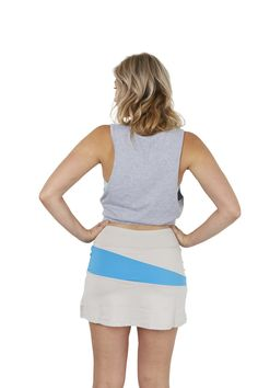 30Fifteen Sue Skirt Grey & Blue. Available on our website:                                                                          www.30Fifteen.co.uk 30Fifteen | Tennis | Fitness | Health | Fashion