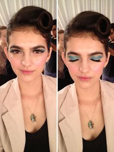 Pretty makeup backstage at the Kate Spade show! #NYFW #17FW