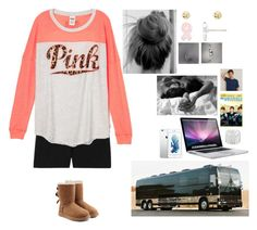 """""""Cuddles & Watching the outfield w/ cam"""" by rosslynch-1145 ❤ liked on Polyvore featuring Victoria's Secret, UGG Australia and Charlotte Russe"""