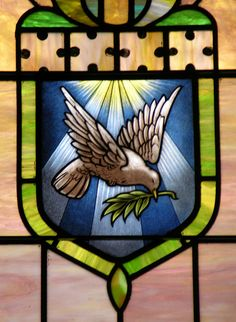 Stained glass in the sanctuary of Trinity United Methodist Church, Darlington, SC
