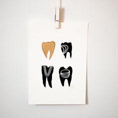 Symbolic Teeth 8x10 print by KatieVernon on Etsy
