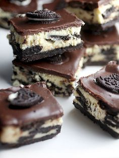 Cookies and Cream Cheesecake Bars by Bakerella, via Flickr