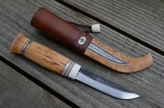 Iudhael arctic knives: Sami style knife, Lauri 95 blade