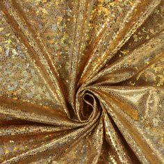 Snake Foil 12 - Polyester - Élasthanne - or Klimt, Gold Foil, Snake, Queen, Carnival, Madness, Metallic Gold, Fabrics, Christmas Time