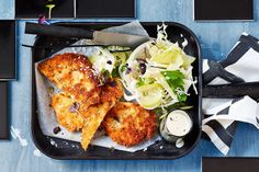 Who doesn't love a gloriously golden chicken schnitzel?