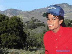 Michael Jackson, January 1988, over a view of the Figueroa Mountains, somewhere near the Neverland Ranch. Photo: Alan Light