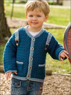Crochet - Patterns for Children & Babies - Sweater Patterns - Little Boy Blue Sweater