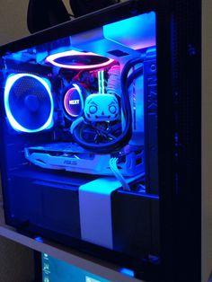 Best Gaming Setup, Gaming Room Setup, Pc Setup, Desk Setup, Computer Build, Gaming Computer, Gaming Pcs, Custom Pc, Game Room Decor