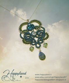 """"""" Fable """" Tatting pendant Tutorial step by step"""