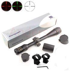 Sıcak yeni carl zeiss 4-16x40 aomc açık avcılık optik tüfek işıklı taktik tüfek kapsam dağı ile satılık