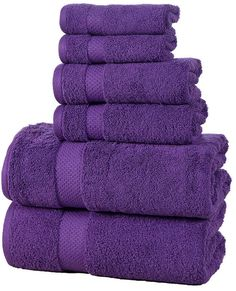 Affinity Linens Purple Elegance Spa Six-Piece Towel Set Purple Love, All Things Purple, Shades Of Purple, Deep Purple, Purple Stuff, Purple Colors, Dark Colors, Solid Colors, Colours