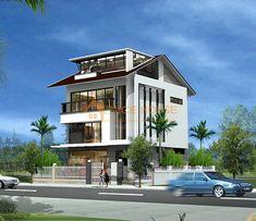Thiết kế biệt thự 3 tầng anh Tân - Nha Trang