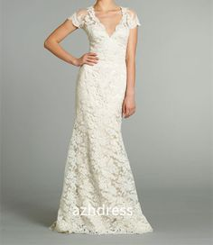 Hey, I found this really awesome Etsy listing at https://www.etsy.com/listing/166923759/white-ivory-v-neck-long-lace-wedding