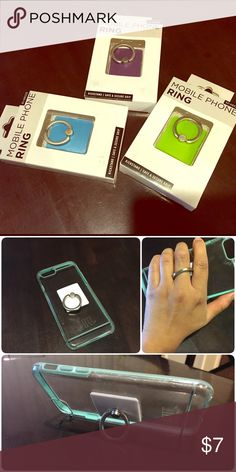 Mobile phone rings  Do you drop your phone a lot? Are you tried of holding your phone when your watching YouTube or Netflix etc.? Well this is the solution to your problems. MOBILE PHONE RING Other