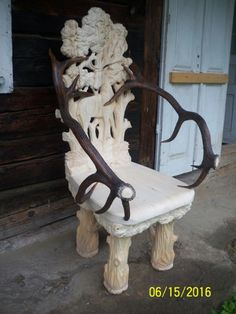 кресло image 2 Rustic Log Furniture, Diy Furniture, Outdoor Furniture, Outdoor Decor, Wood Chairs, Wooden Projects, Furnitures, Decoration, Wood Carving