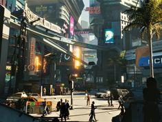 Modern city, Cyberpunk 2077, 2018 wallpaper