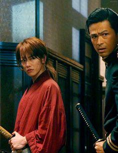 Kenshin Himura and Saito Hajime. Rurouni Kenshin Live Action Screencaps