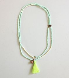 Handmade Beaded Tassel Necklace