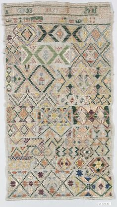 Dutch Sampler ~  1817 ~ Metropolitan Museum of Art